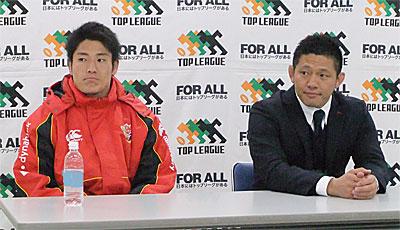 冨岡ヘッドコーチ(右)、森田キャプテン