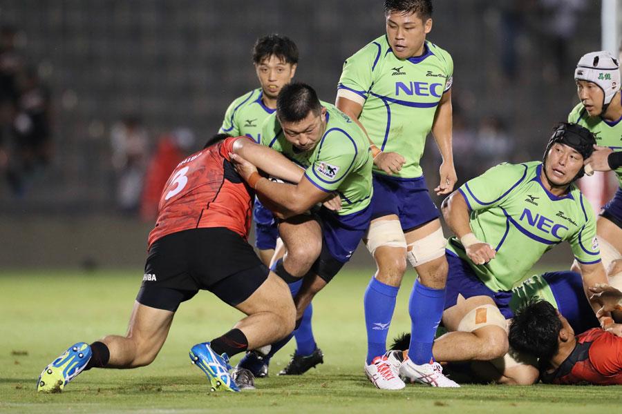 スター選手不在ながらチームのまとまりの良さを感じさせる戦いぶりで健闘を見せるNEC photo by Kenji Demura