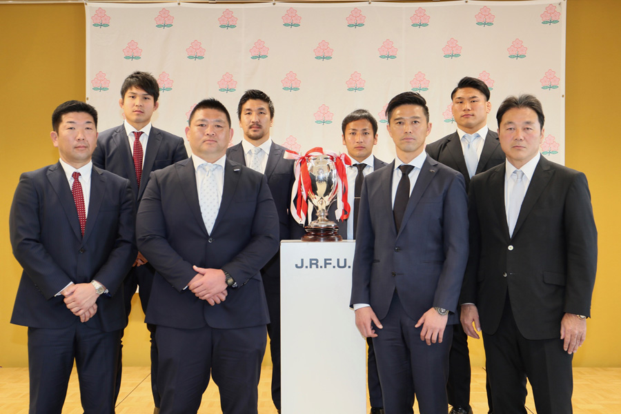 一堂に会した4強チームの首脳陣、主将 photo by Kenji Demura
