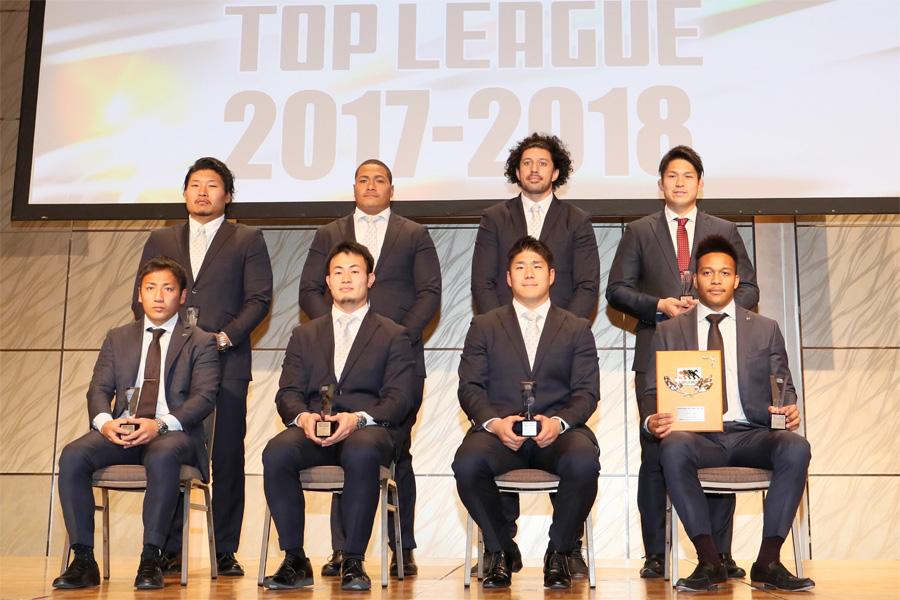 MVPの松島、新人賞の姫野をはじめベスト15のうち8人が表彰式に出席 photo by Kenji Demura