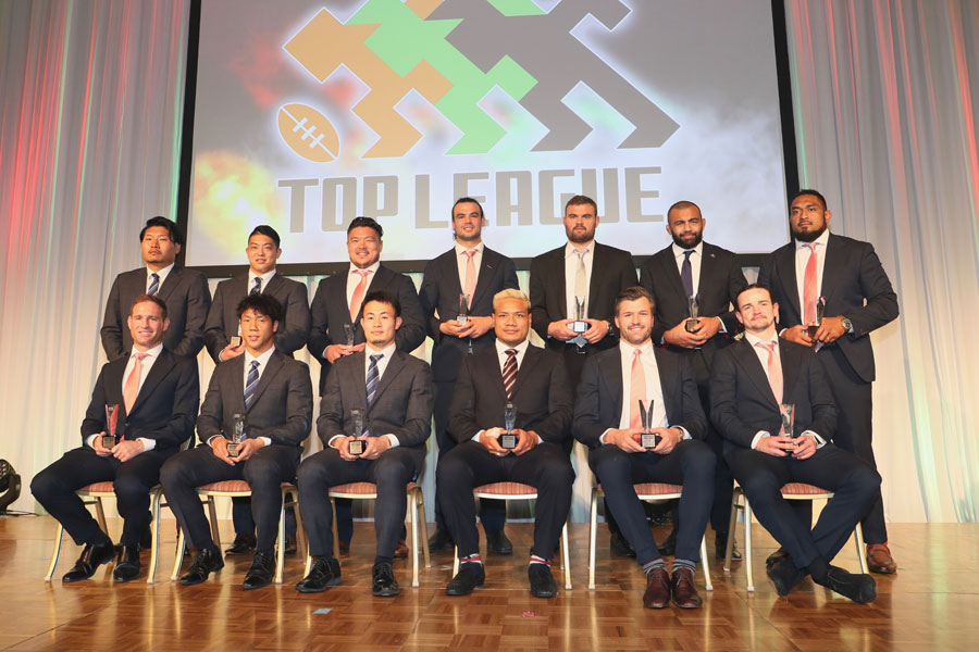 トップリーグ2018 - 2019のベストフィフティーン。神戸製鋼から6人の選出となった photo by Kenji Demura