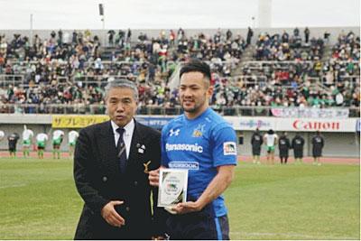 マン・オブ・ザ・マッチは11番梶選手