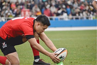 日本代表 田村優 この日のキック成功率は100% 抜群の安定感を誇った