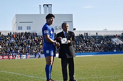 マン・オブ・ザ・マッチはNTTコム12番池田悠希