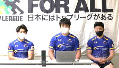 左から石井選手、目崎選手、前田選手