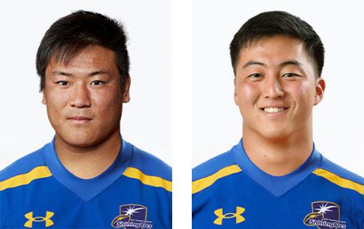 (左:藤村琉士選手 右:松本健留選手)