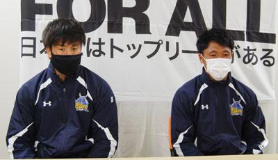 長谷川選手(左)、山沢選手