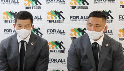 江見選手(左)、森川選手