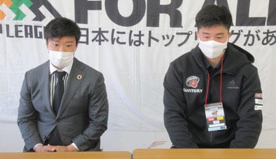 齋藤選手(左)、下川選手